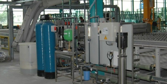 Waterbehandeling t.b.v. glasproductie